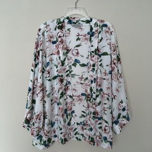 Emerson Floral Oversized Open Cardigan 16